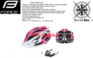FORCE HELMET STAR WHITE PINK