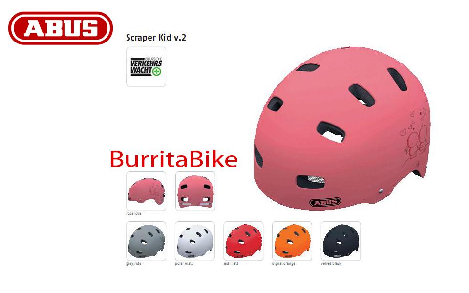 casco abus kids scraper kid v 2 info burrita bike store. Black Bedroom Furniture Sets. Home Design Ideas