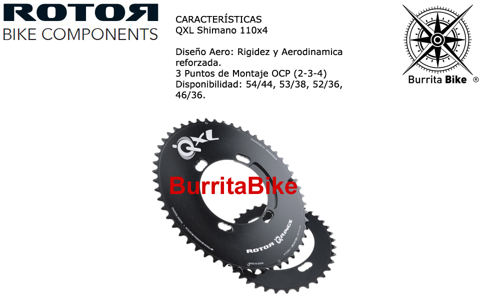 Plato Rotor Carretera Qxl Shimano 110x4 Info Burrita