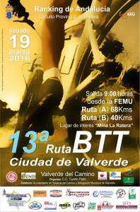 13ª RUTA BTT VALVERDE DEL CAMINO