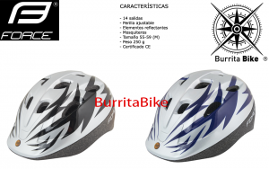 FORCE HELMET BEN CHILD SILVER-BLACK AND BLUE S