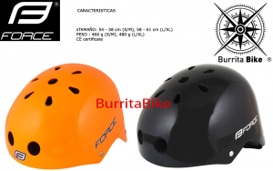 FORCE HELMET BMX GLOSSY BLACK ORANGE