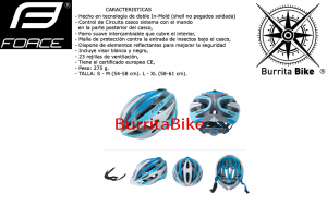 FORCE HELMET ROAD LIGHTBLUE WHITE