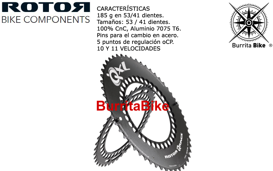 Plato Rotor Carretera Qxl 130 Info Burrita Bike Store