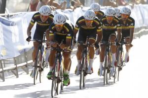 Vuelta Spagna 2015 - 70a Edizione - 1a tappa Porto Banus - Marbella 7.4 km - 22/08/2015 - Colombia - foto Luca Bettini/BettiniPhoto©2015